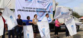 Partió Camión con ayuda de Bahíabanderenses para Jojutla, Morelos