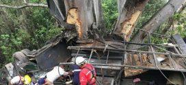 Cifra Preliminar de 15 Muertos y 21 Heridos, Arroja Volcadura de Autobús en Carretera 200