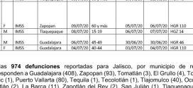 Afirma SSJ, que Puerto Vallarta, Registra 80 Decesos por Coronavirus