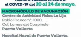 Arranca, este 20 de Mayo, en PV y 25 Municipios, Vacunación Anticovid-19, para Embarazadas y Personas de 50 a 59Años